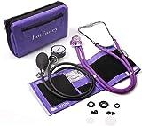 LotFancy Manuelles Blutdruckmessgerät mit Doppelkopf-Stethoskop, Aneroid Blutdruckmessgerät für Rettungsdienst, Arzt, Praxis mit Manschette (ca. 25 cm - 40 cm)