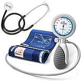 AIESI® Blutdruckmessgerät Manuelles Professionelles Aneroid oberarm handheld erwachsene mit stethoskope DOCTOR ANEROID # Verstellbarer griff # 24 monate garantie