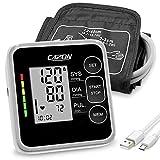 CAZON Blutdruckmessgeräte Oberarm Digital Vollautomatisch Blutdruckmessgerät Pulsmessung Blutdruckmessung Großes mit Große Manschette 2x120 Dual-User