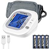 Oberarm Blutdruckmessgerät, HYPOAI Arrhythmie-Anzeige, WHO-Ampel-Farbskala, automatische Blutdruck- und Pulsmessung mit Speicherfunktion